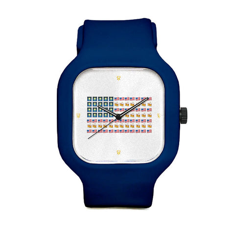 Emoji Flag Sport Watch