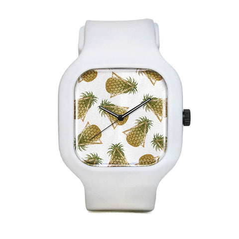 Pineapples and Triangles Sport Watch
