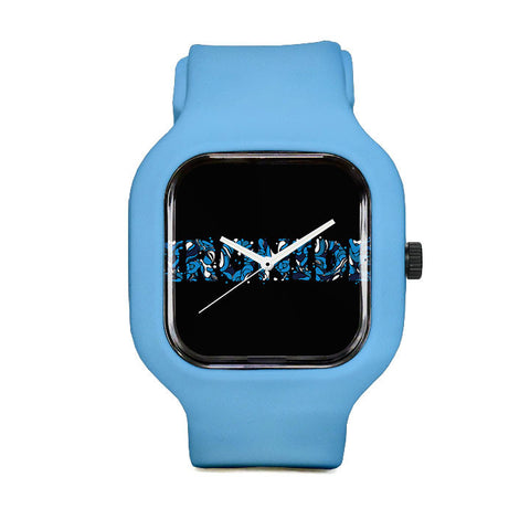 Ironide Blue Marble Sport Watch