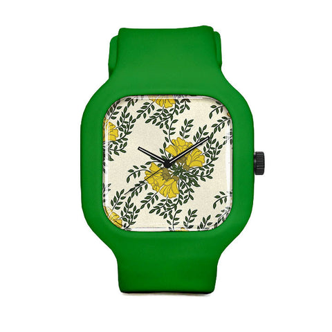 Kowhai Flowers Sport Watch