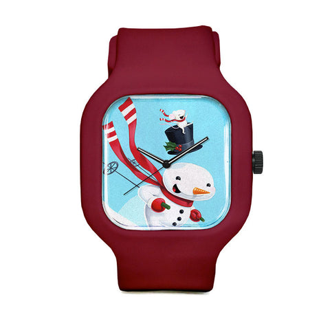 Snowman Skiing Sport Watch