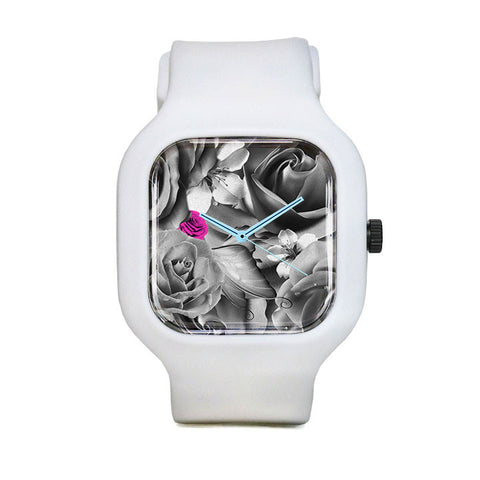 OVE Silver Flowers Sport Watch