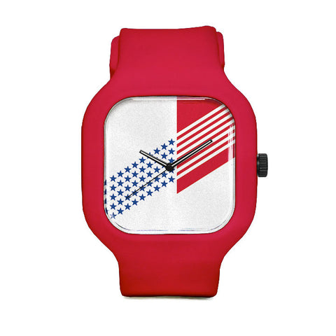 Abstract Flag Sport Watch