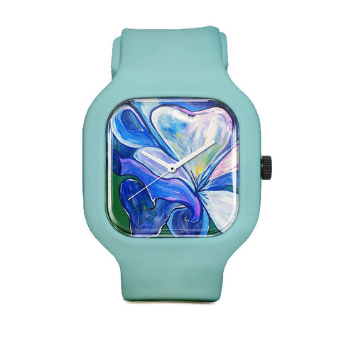 Chris's Closet Blue Rose Sport Watch