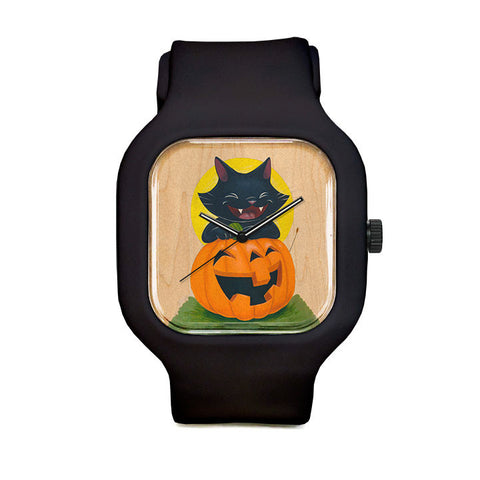 Black Cat halloween Sport Watch