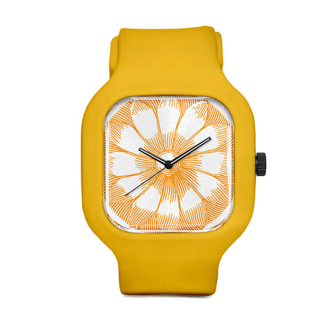 Etched Flower Passion Fruit Sport Watch