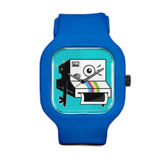 Les Blue Camera Sport Watch