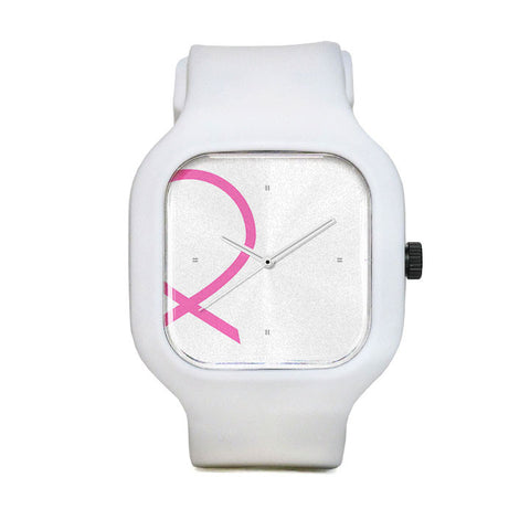 Breast Cancer Awareness Ribbon Sport Watch
