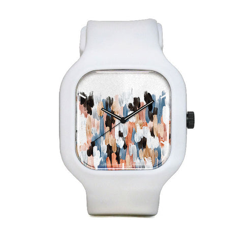 Copper and Blue Brushstroke Sport Watch