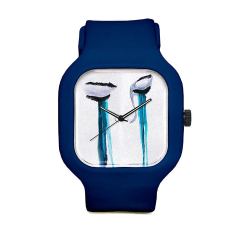 Crying Blue Sport Watch