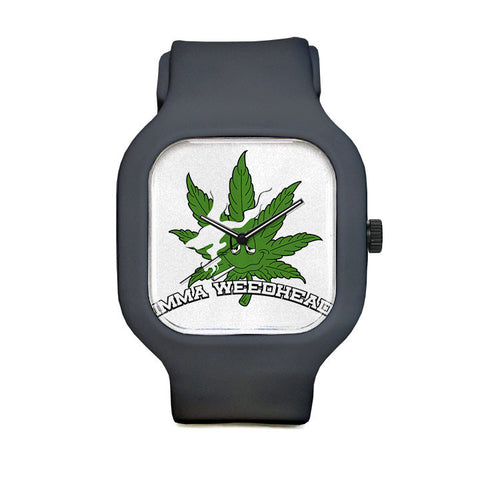 Imma Weedhead White Logo Sport Watch