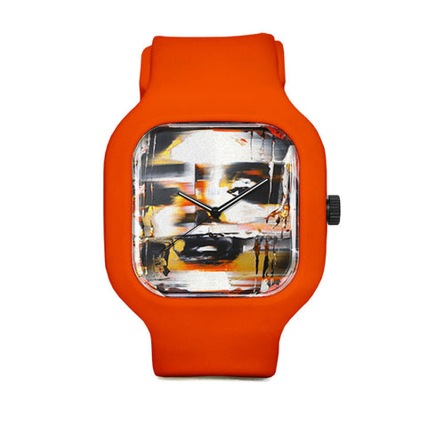 Orange Disfigured Sport Watch