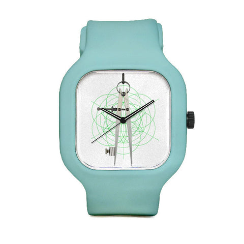 Compass Watch with Seafoam Strap