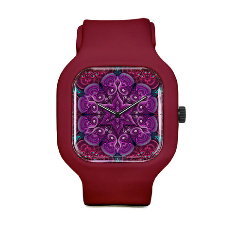 Purple Flower Sport Watch