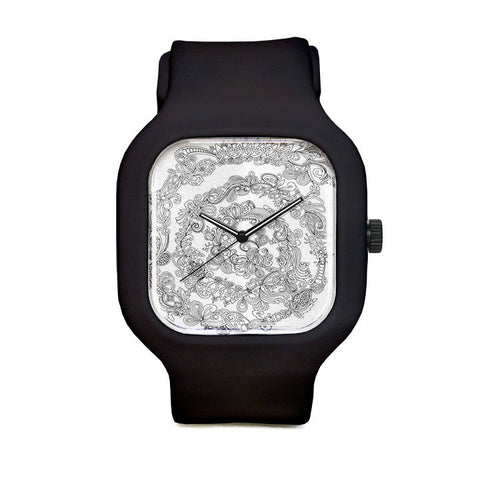Ornamental Spiral Sport Watch