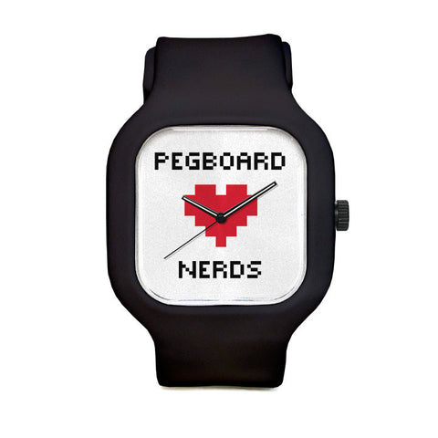 Pegboard Nerds White Sport Watch