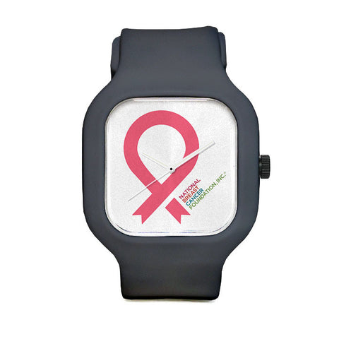 Large Pink Ribbon Sport Watch