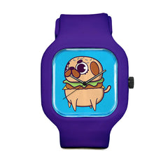 Pug Burger Sport Watch