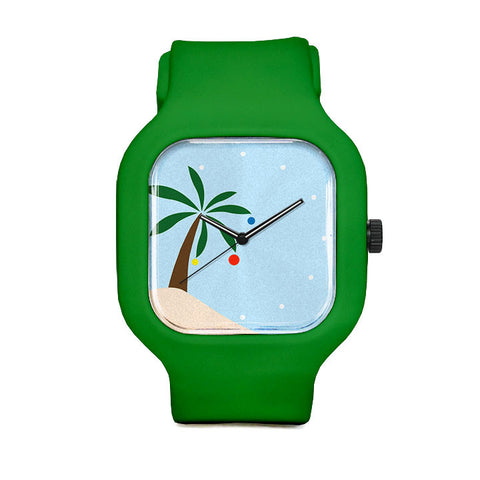 Festive Palm Tree Sport Watch