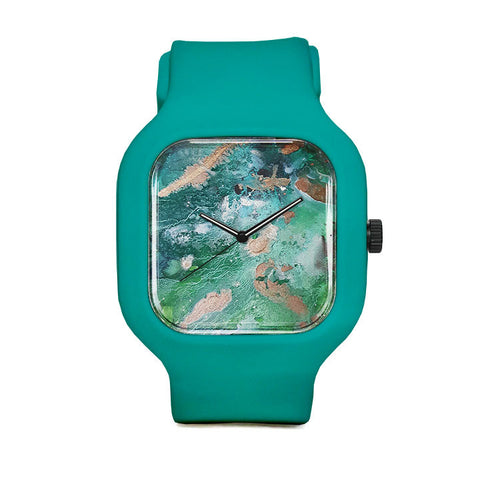 Turquoise Texture Sport Watch