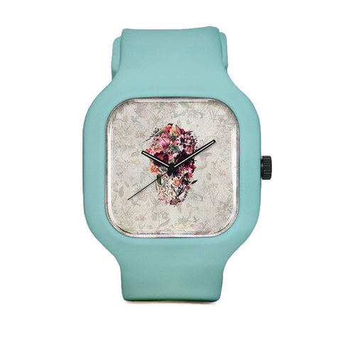 Flower Skull Sport Watch