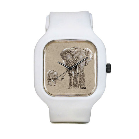 Swirly Elephant Family Sport Watch
