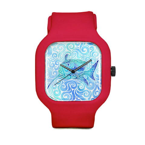 Swirly Shark Sport Watch