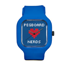 Pegboard Nerds Blue Sport Watch
