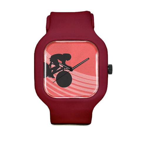 Red Silhouette Sport Watch