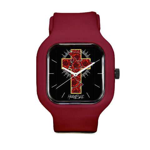 Rose Cross Sport Watch