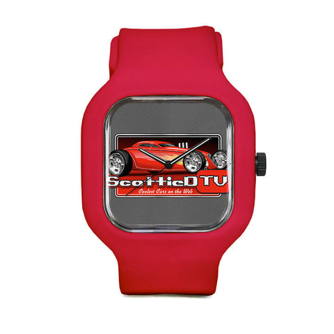 Colored Logo Sport Watch