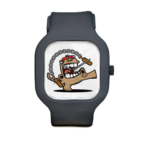 Beer Monkey Ninja Sport Watch