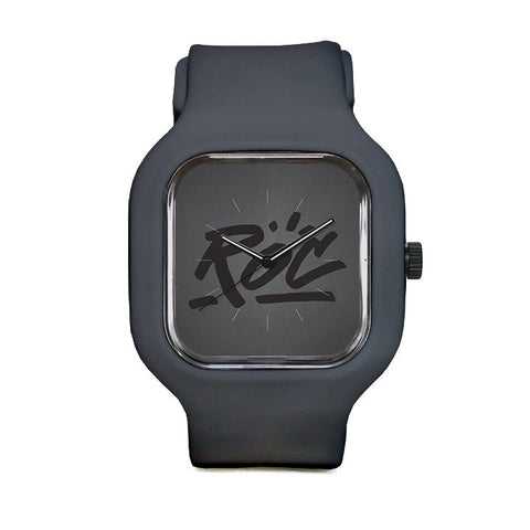 Grey Logo Sport Watch