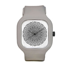 Black and White Mandala Sport Watch