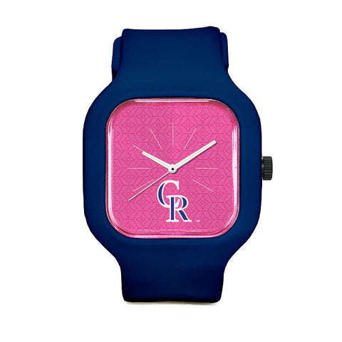 Pink Colorado Rockies Sport Watch