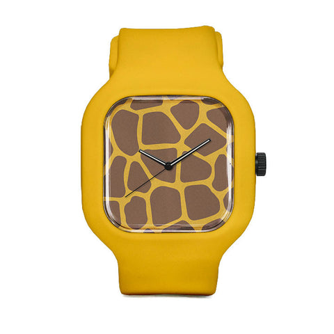 Giraffe Print Sport Watch