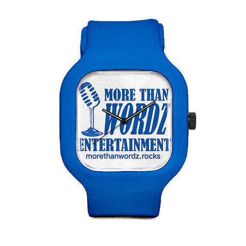More Than Wordz.Rock Blue Sport Watch