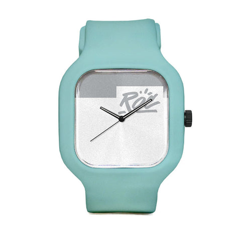White Logo Sport Watch