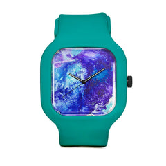Blue Swirl Sport Watch