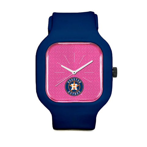 Pink Houston Astros Sport Watch