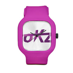 okz Logo Purple Sport Watch