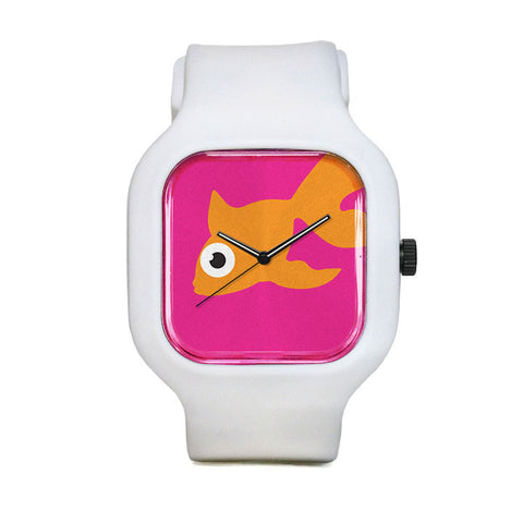 Pink Goldfish Sport Watch