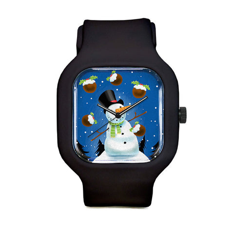 Snowman Juggling Sport Watch