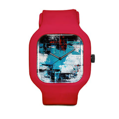 Abstract Impressions Acrilico Su Tela Sport Watch