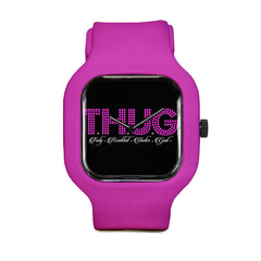 T.H.U.G.  Pink Dots Sport Watch