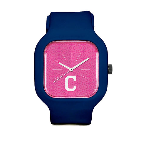 Pink Cleveland Indians Sport Watch