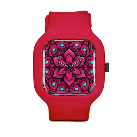 Pink Flower Sport Watch
