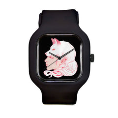 Sze Jones Black Wolf Girl Sport Watch