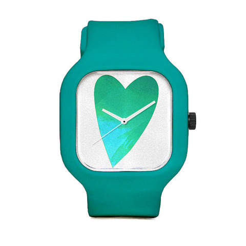 Heart In Hand Turquois Sport Watch