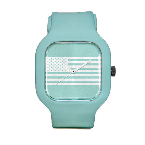 Seafoam Flag Sport Watch